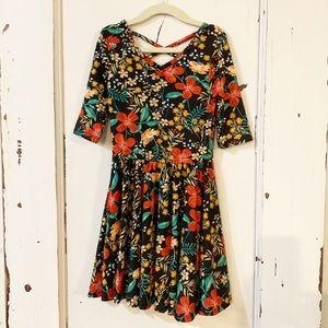 NWT 5/6 DotDotSmile Ballerina Black Floral Dress
